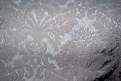"""Ivory cream damask quality curtains 51""""d x 83""""w"""