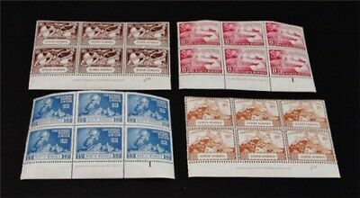 nystamps British North Borneo Stamp#240-243 MOGNH$43 as Singles Rare Plate Block