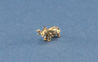 Adorable 1:12 Scale Dollhouse Miniature Tiny Gold Elephant Figurine #JLM129