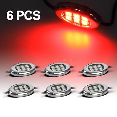 36LED Neon Motorcycle Engine Wheel Under Glow Accent Lighting Kit - Red
