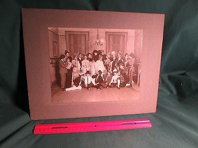 """1903 Decatur, Illinois Girls' Theater Group w/ Names, 9-1/2"""" X 7-9/16"""" VG"""