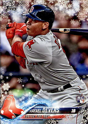 2018 Topps Holiday Rafael Devers Rookie Card #HMW67 - Boston Red Sox