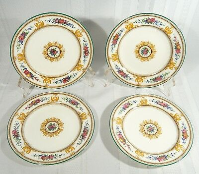 4  WEDGWOOD China W595 White  COLUMBIA DESSERT / Salad / Side  PLATES 6 7/8 ""