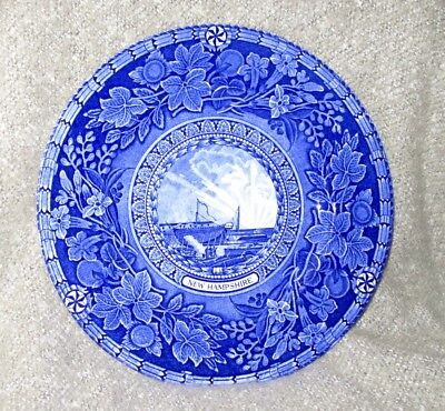 """Mottahedeh England Signed Strawberry Banke 10"""" New Hampshire Souvenir Plate"""