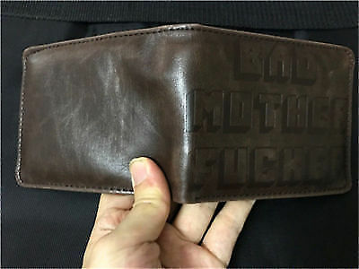 Brown BMF (Bad Mother Fu**er) Leather Wallet As Seen in Pulp Fiction