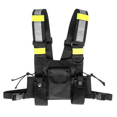 Radio Walkie Talkie Chest Front Pack Pouch Vest Harness for Rescue Accessory