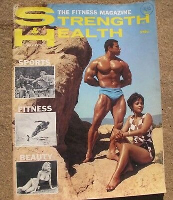 Vintage Strength & Health Bodybuilding Magazine USA 1970 Chris Dickerson Cover