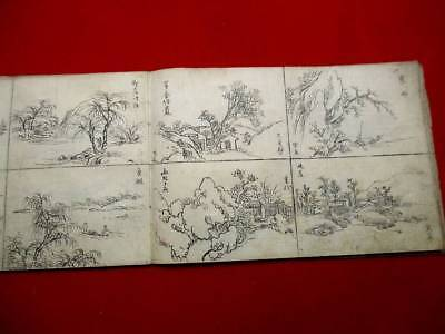 1-5 Japanese Chinese Hand-writing manuscript pictures Book