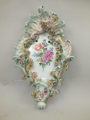 A 19Thc Meissen Wall Sconce With Figure And Flowers