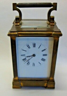 Late 19th brass cased repeating carriage clock for spare or repair