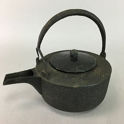 Antique Japanese Cast Iron Sake Pot Meiji Choshi Tetsubin Kettle Nanbu Tekki T51