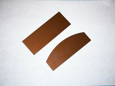 """thick .4mm .015/"""" Japanese Straight and Curved Middle Size Card Scraper Set"""
