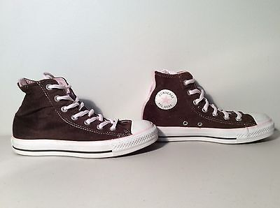 bdc2eb29f10a Converse All Star Chuck Taylor Brown Suede w  Pink Hi Top Sneakers Men s  Size 4