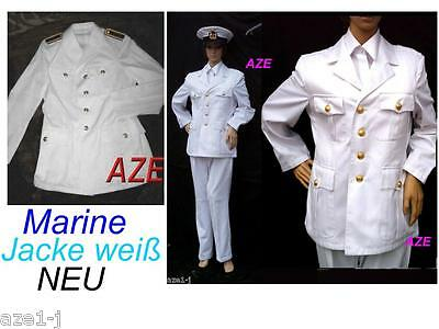 New German Navy & Dream Ship Officers Jacket Marine Uniform Captain White