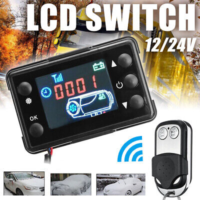 12V/24V LCD Monitor Switch + Remote Control Car Diesel Air Heater Controller Kit