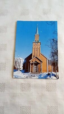 TROMSO CHURCH NORWAY POSTCARD -POSTED 11th MARCH 1980