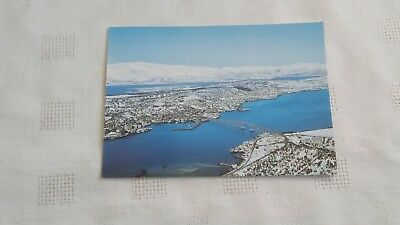View Of The Town With The Tromso Bridge Postcard - Unposted But Written On