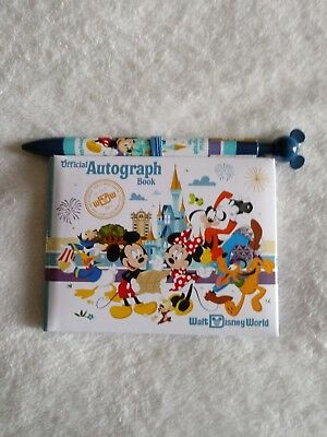 Walt Disney World Official Autograph Book with Matching Ink Pen Pre-Owned