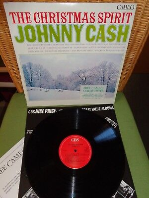 Johnny Cash- The Christmas Spirit- Vinyl LP- 1987 Reissue- UK