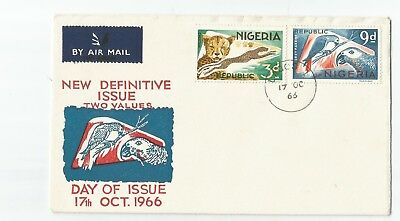 Nigeria 1966 Definitives First Day Cover