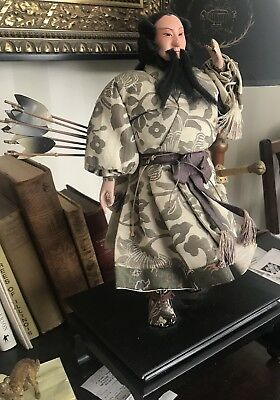 Antique Japanese Musha Ningyo Of Jimmu  The 1st Emperor Of Japan  Hand Crafted