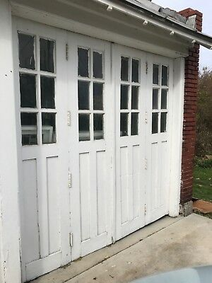 Antique Wooden Barn Doors all 4 sets together Salvaged Reclaimed Wood Primitive