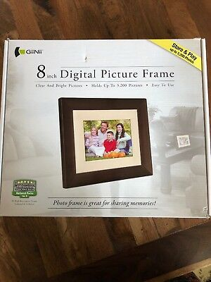 Giinii 8 inch Digital Picture Frame, New in Box, Free Ship