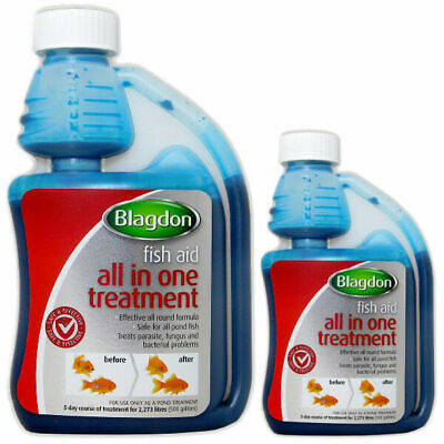 Blagdon All In One Disease Koi Fish Pond Treatment Parasites Fungus Bacteria