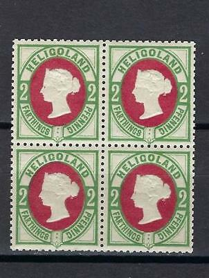 Heligoland 1875 Victoria 2 ph Germany block 4 MNH Reprint