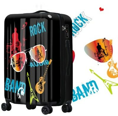 A609 Lock Universal Wheel Black Hip-Hop Travel Suitcase Luggage 28 Inches W