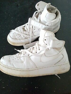 Af Nike 1 White Force 44 Tops Good Uk9 Eu Condition Trainers Size Leather Air Hi iTlwXuOPkZ