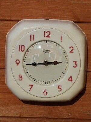LOVELY VINTAGE 1950s SMITHS SECTRIC WALL CLOCK CONVERTED TO QUARTZ MOVEMENT