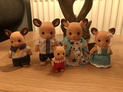 Sylvanian Families Rare Red Deer Family In Good Original Condition