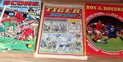 Vintage roy of the rovers annual Plus Scorcher Magazine