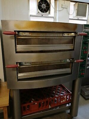 Electric Pizza Oven Twin Deck Commercial Baking Oven Fire Stonebake Catering