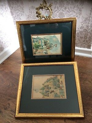 Vintage Watercolours Signed