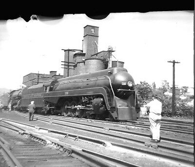 "Norfolk & Western Ry 130, 4-8-2 streamlined steam Orig 2-1/4"" X 1-3/4""  negative"
