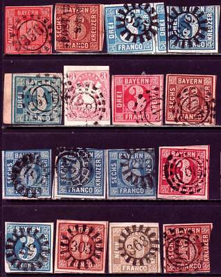 BAYERN BAVARIA GERMAN STATES valuable unsearched imperf stamp collection!