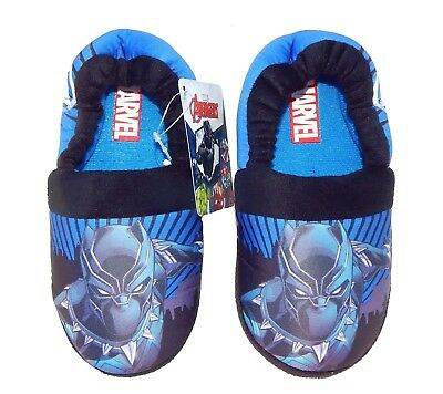 BLACK PANTHER MARVEL AVENGERS Boys Slippers NWT Sizes 9/10, 11/12, 13/1 or 2/3
