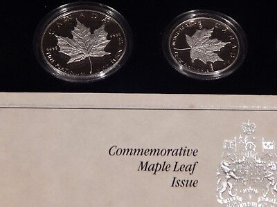 1989 Proof 4 Coin Set Of Platinum Maple Leaf In Maple Box And Coa