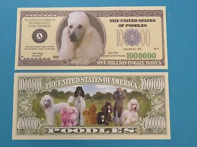 Series Woof: POODLES for Dog Lovers ~ Hip $1,000,000 One Million Dollar Bill