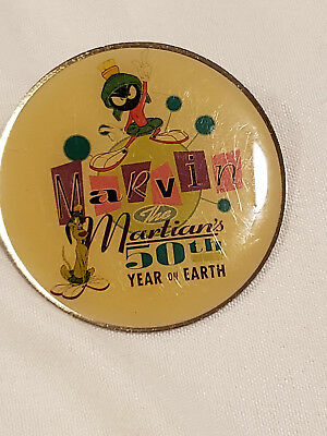 Vintage Marvin the Martian 50th Year on Earth pin collectible 1998