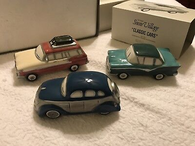 """""""CLASSIC CARS"""" (Set of 3 cars)  RETIRED - Dept. 56 Snow Village"""