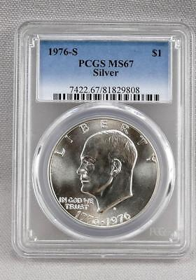 1976-S Pcgs Ms67 Silver Graded Eisenhower Silver Dollar!