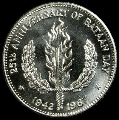 1967 Philippines Peso - .900 Silver - Proof-Like - KM# 195
