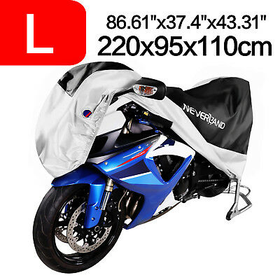 NEVERLAND Motorcycle Cover w/Storage Bag 86'' 190T Waterproof Heavy Duty Protect