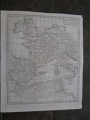 1795 ORIGINAL Map Italy, Spain, France, Germany, England