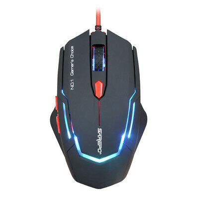SAREPO 6 Buttons Optical USB Wired Programmable Game Mouse Mice fr PC Gamer F7G5