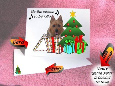 30 Australian Terrier Christmas cards & envelope laser 60 pieces gift box design