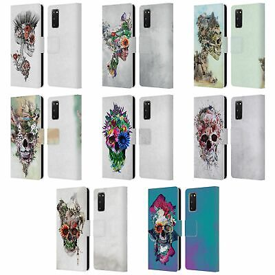 Official Riza Peker Skulls 5 Leather Book Wallet Case Cover For Samsung Phones 1